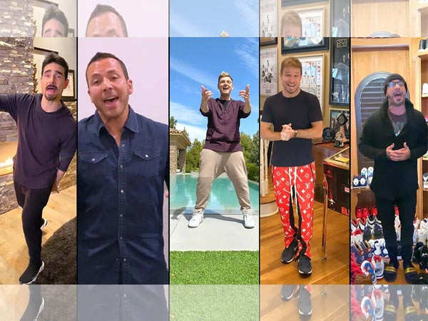 Backstreet Boys recreate their hit number I Want It That Way