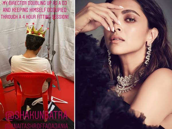 Deepika Padukone shares a sneak-peek from the sets of Shakun Batra's next