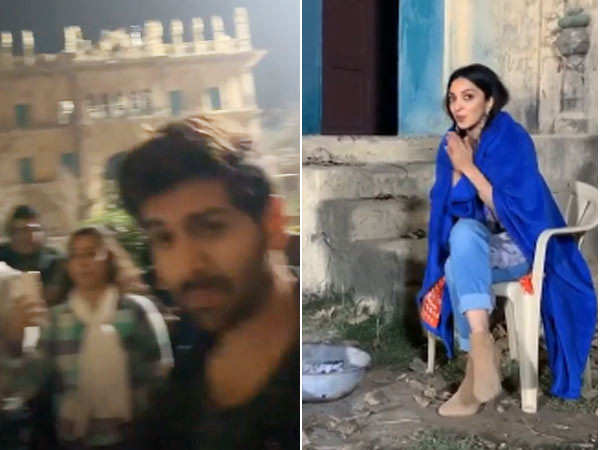 Kartik Aaryan and Kiara Advani give us a sneak-peek into Bhool Bhulaiyaa 2's shooting