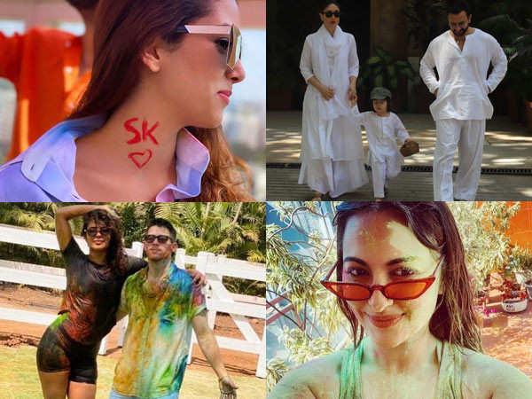 Bollywood stars wish fans a Happy Holi on social media