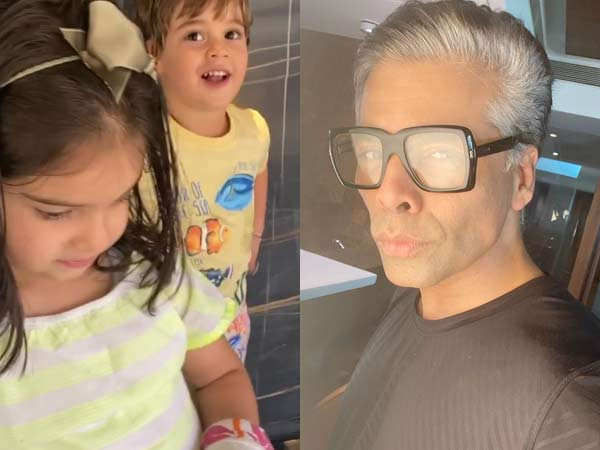 Karan Johar and his kids are back with yet another adorable video
