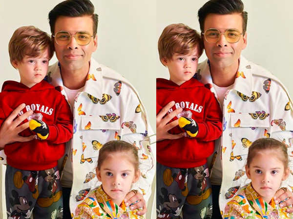 Karan Johar's kids Yash and Roohi ace fashion just like their dad