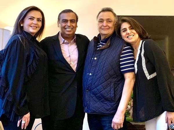Neetu Kapoor thanks Mukesh and Nita Ambani for their unwavering support
