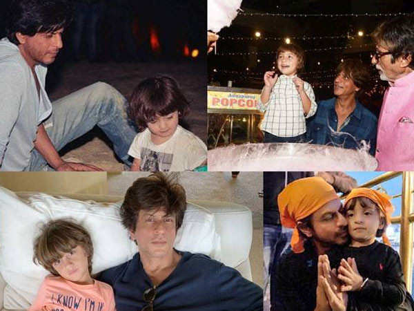 Pictures of birthday boy AbRam Khan with his dad Shah Rukh Khan