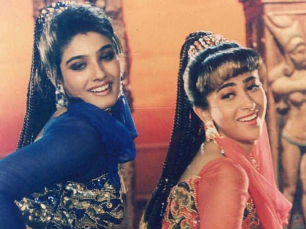 Throwback to when Karisma Kapoor and Raveena Tandon fought on set