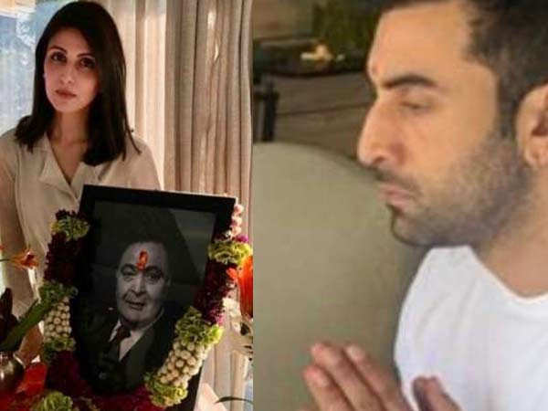 Riddhima Kapoor shares pictures from Rishi Kapoor's prayer meet