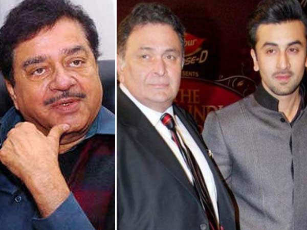 Here's what Shatrughan Sinha has to say about Rishi Kapoor & Ranbir Kapoor