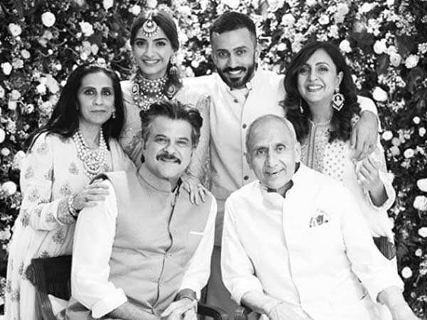 Sonam Kapoor and Anand Ahuja's family members shower anni  wishes on them