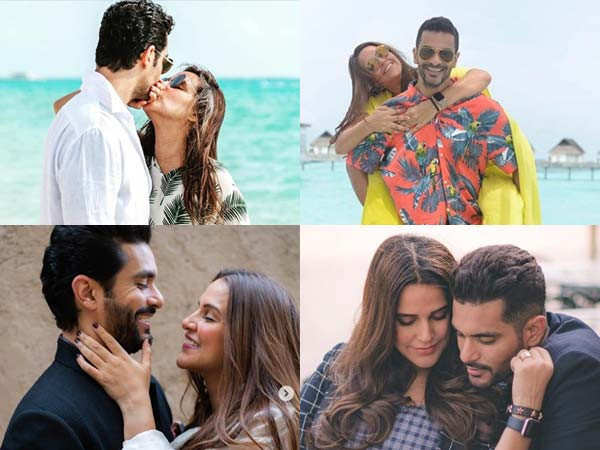 10 romantic pictures of Angad Bedi and Neha Dhupia