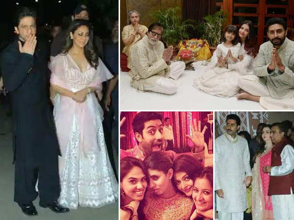 Best pictures from Amitabh Bachchan's Diwali party from the years gone by