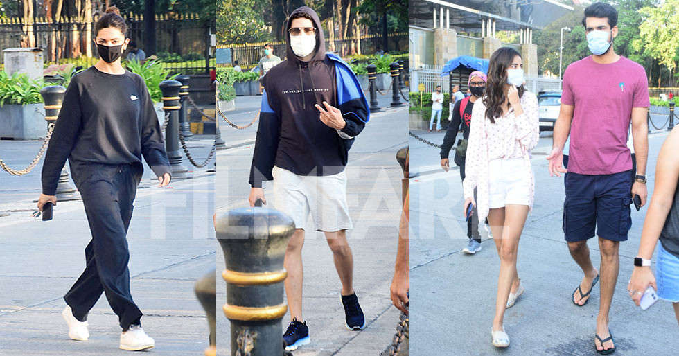 Deepika Padukone, Siddhant Chaturvedi, Ananya Panday clicked at Gateway of India