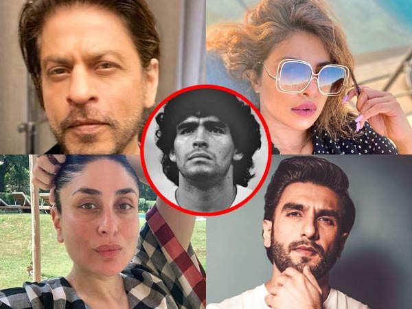 Shah Rukh Khan, Ranveer Singh, Priyanka Chopra Jonas remember Diego Maradona