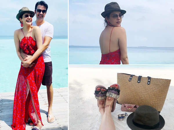 Kajal Aggarwal and Gautam Kitchlu's honeymoon pictures are adorable