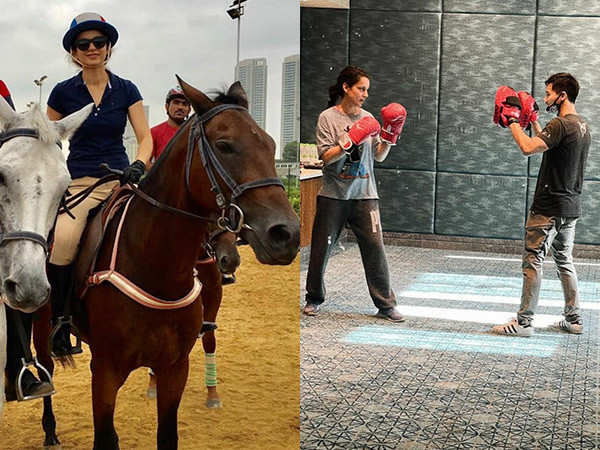 Kangana Ranaut gets in the action-fit mode for her next Dhakaad