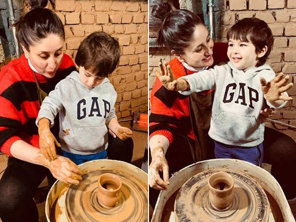 Kareena Kapoor Khan and Taimur Ali Khan Learn Pottery in Dharamkot
