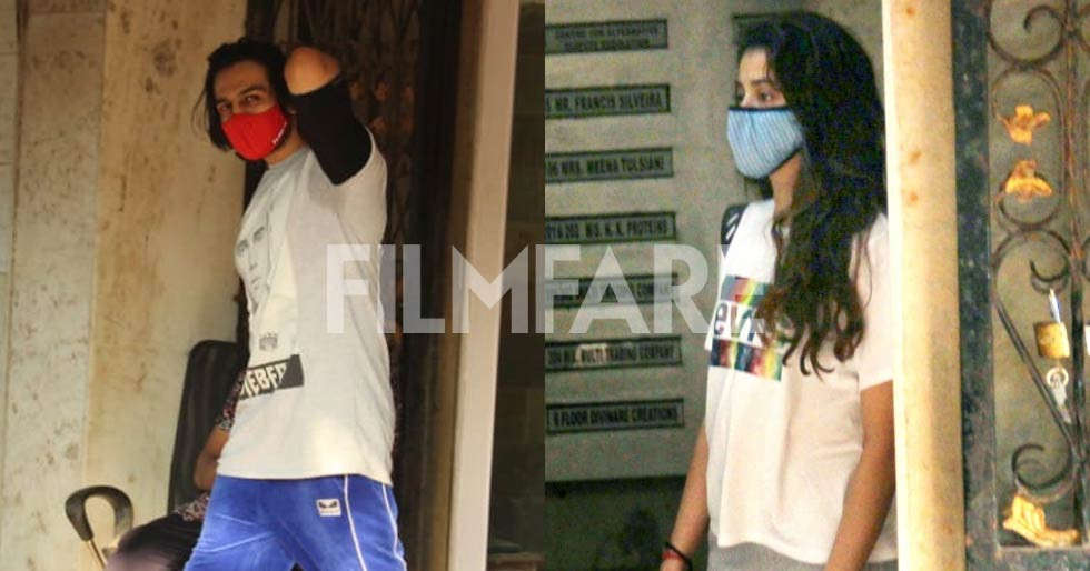 Photos: Kartik Aaryan and Janhvi Kapoor spotted together at the gym