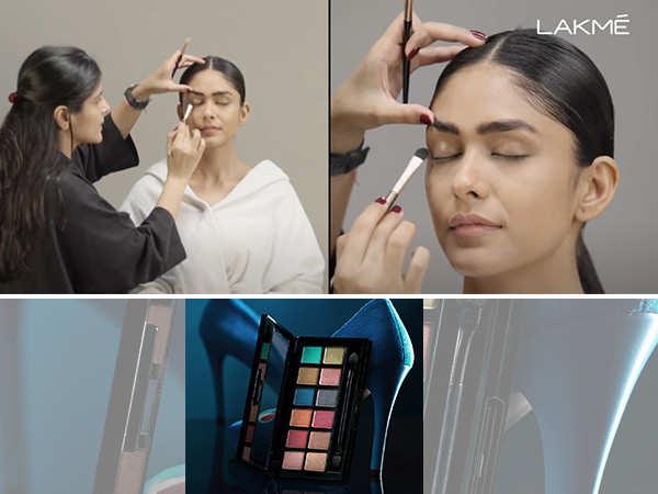 Namrata Soni's beautiful smokey eye for Mrunal Thakur with the new Lakme Spotlight Eyeshadow Palette