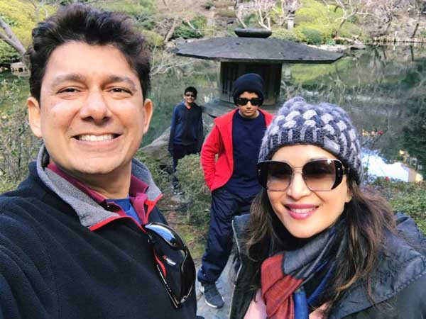 Madhuri Dixit Nene wishes her husband and her sons Happy Men's Day