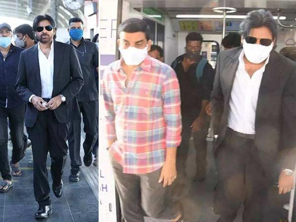 Pawan Kalyan takes a metro ride for his Vakeel Saab shoot