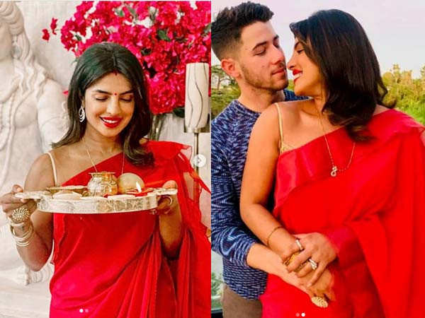 Photos: Priyanka Chopra Jonas Celebrates Karwa Chauth With Husband Nick Jonas