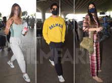 Disha Patani, Diana Penty and Sidharth Malhotra spotted at the airport