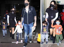 Back in town! Sunny Leone returns to India with her family