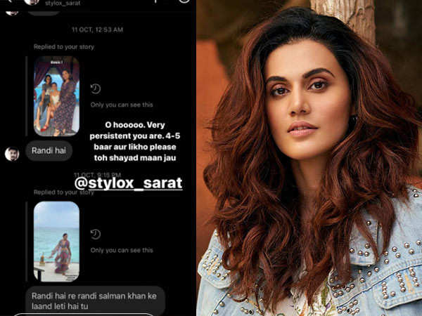 Taapsee Pannu Responds To a Troll's Insensitive Comment