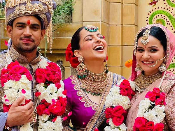 Kangana Ranaut shares pictures from her brother's wedding ceremony