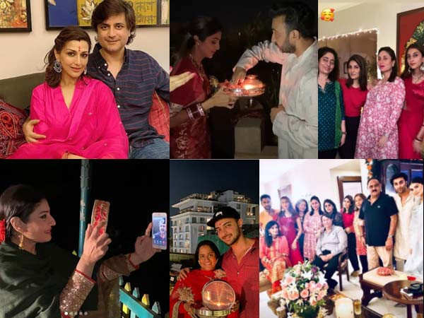 Best Pictures of Bollywood Stars Celebrating Karwa Chauth Last Night