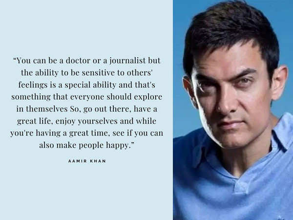 Best quotes of Aamir Khan from the Bennett University Convocation 2020