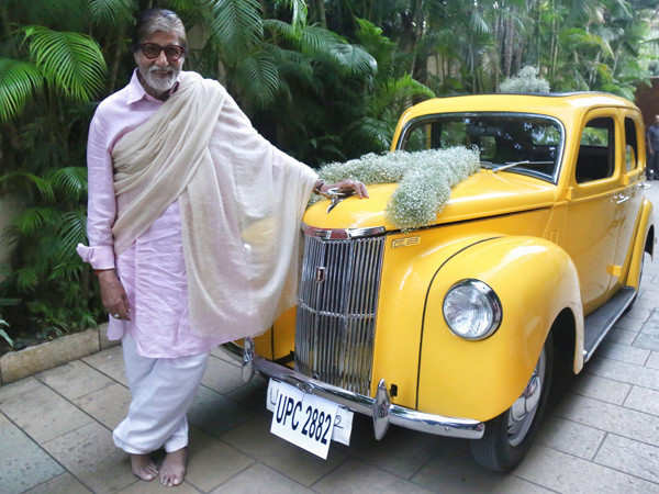 When Amitabh Bachchan gave a glimpse of his first family car