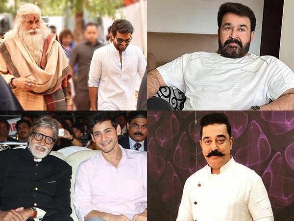Mohanlal, Mammootty, Prabhas, Kamal Haasan, Mahesh Babu wish Amitabh Bachchan on his birthday