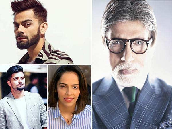 Virat Kohli, Suresh Raina, Saina Nehwal wish Amitabh Bachchan a very happy