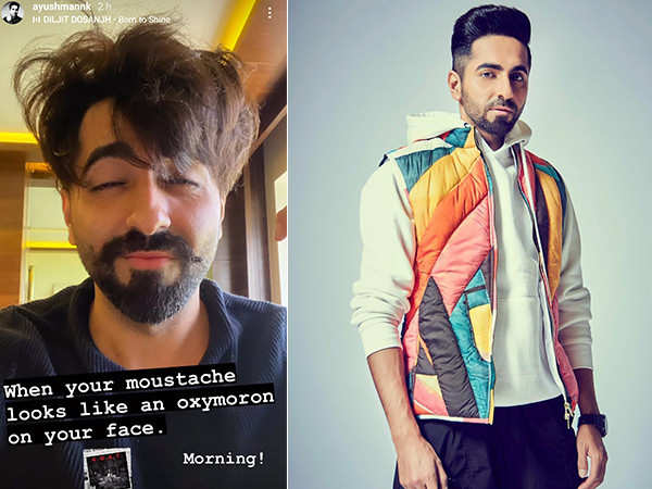 Ayushmann Khurrana flaunts his moustache and leaves us in splits
