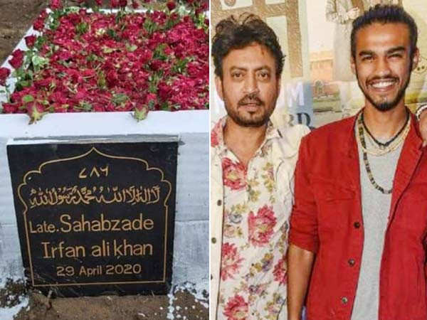 Irrfan Khan's son Babil Khan shares a picture of the late actor's grave