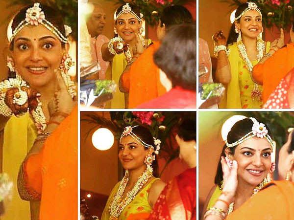 Photos: Kajal Aggarwal Decks Up For Her Mehendi Ceremony
