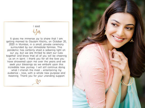 It's official: Kajal Aggarwal to marry Gautam Kitchlu on October 30th