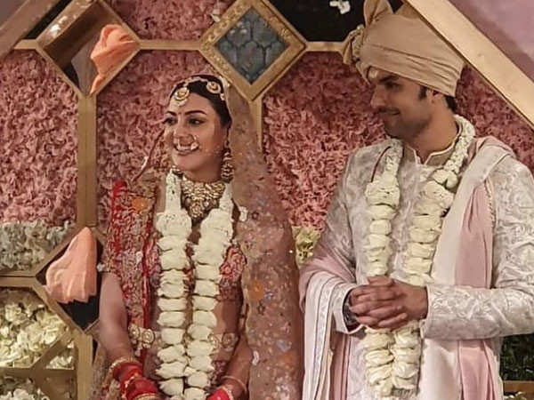 Just in: First pictures of Kajal Aggarwal and Gautam Kitchlu after tying the knot