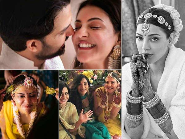 Best clicks of Kajal Aggarwal from her pre-wedding festivities