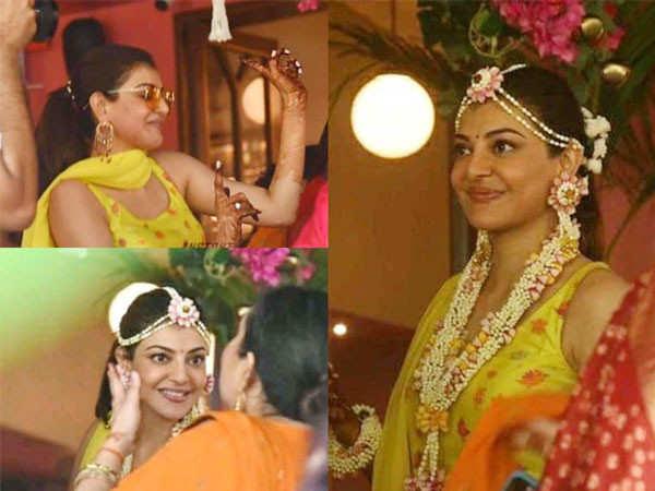 Kajal Aggarwal gets grooving during her pre-wedding festivities