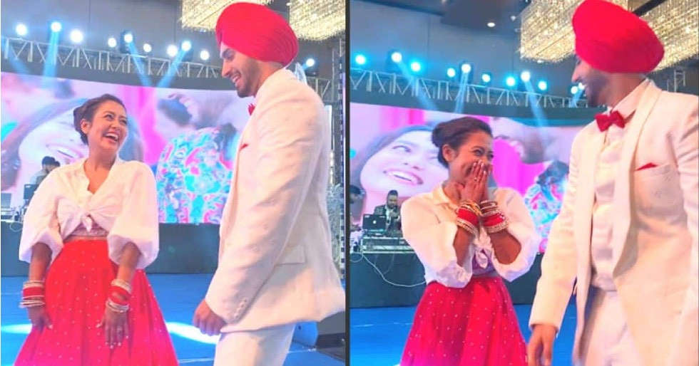 Neha Kakkar and Rohanpreet Singh groove together at their sangeet ceremony