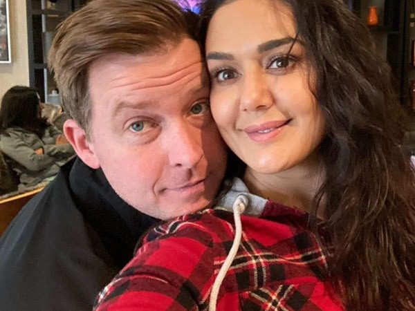 Preity Zinta gets pampered by her husband Gene Goodenough