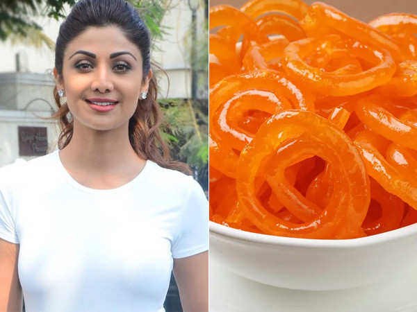 Shilpa Shetty satisfies her sweet tooth with jalebis
