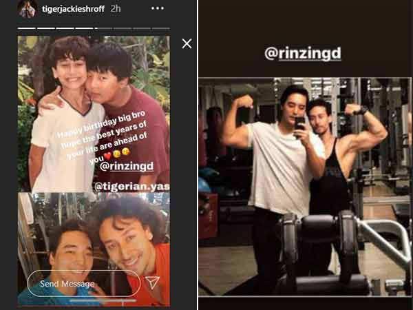 Tiger Shroff Showers Love on Childhood Best Friend Rinzing Denzongpa