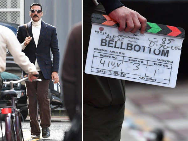 Akshay Kumar Snapped on the Sets of Bell Bottom in Scotland