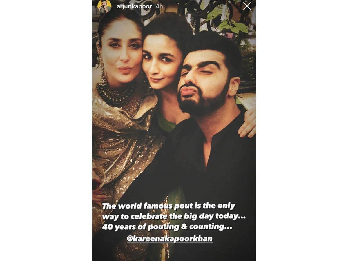 Arjun Kapoor Wish Kareena Kapoor Khan