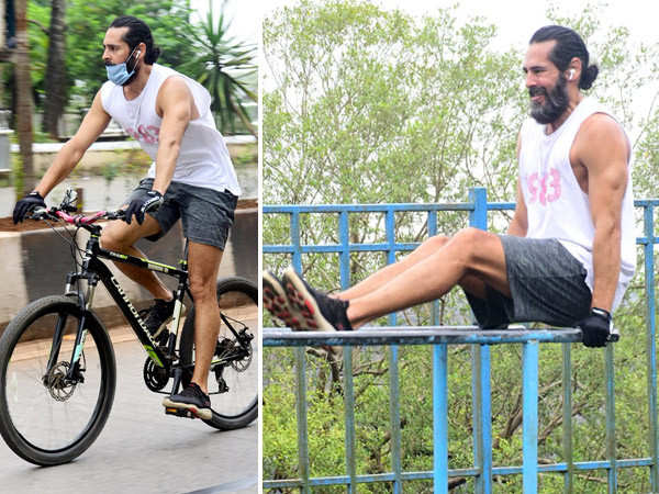 Dino Morea works out in public, sending the mercury soaring