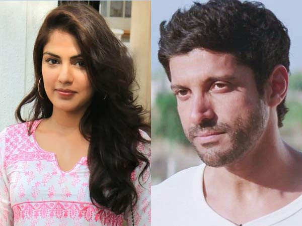 Farhan Akhtar takes a stand against Rhea Chakraborty's media trails