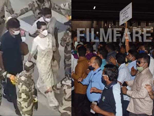 Kangana Ranaut arrives in Mumbai amidst strict security