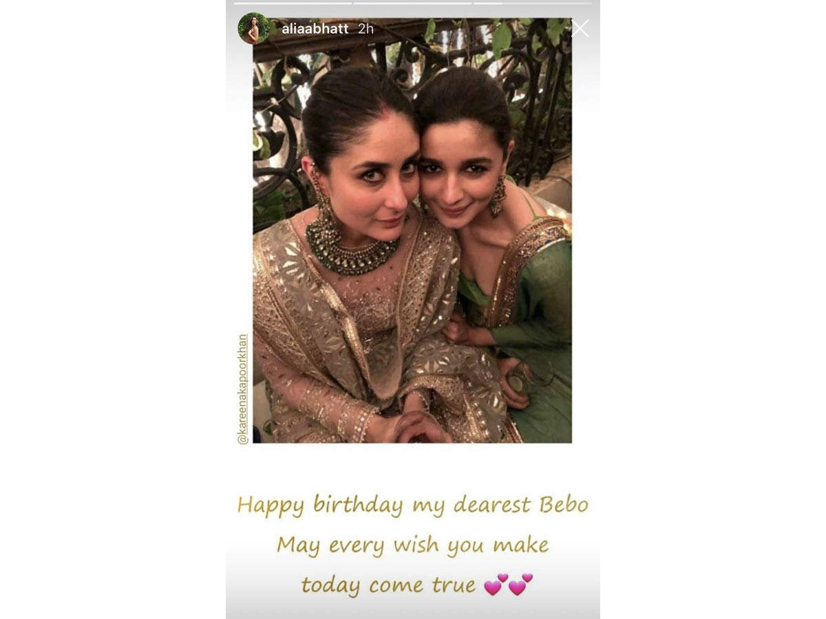 Kareena Kapoor Khan turns 40 today. She has completed 20 years in Bollywood this year and not just that she's also pregnant with her second child. Given all this, her present birthday was bound to be special. Kareena celebrated with her family at her residence last night. The tagline that was flaunted on all the decorations was fabulous at 40 and well, it goes perfectly with the actress.   Several Bollywood stars took to social media to wish Kareena on her big day. Priyanka Chopra Jonas, Katrina Kaif, Kiara Advani, Malaika Arora, Anushka Sharma, Neha Dhupia, Manish Malhotra, Sidharth Malhotra, Arjun Kapoor, Alia Bhatt and more posted on social media about the same. Take a look at their wishes below...